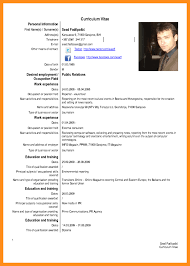 Cv Sample Example Menu Professional Resumes Sample Online