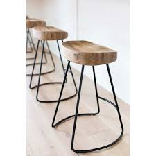 The Rustic Tractor Seat Oak Wooden Bar Stool is a minimalist natural wood  barstool. Perfect