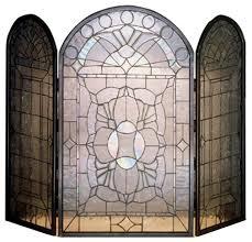 meyda 40 x34 victorian bevel fireplace screen