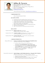 Resume Format Sample Doc Philippines Ixiplay Free My Examples