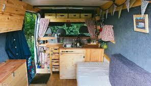 diy camper conversion kitchen layout