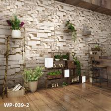 brick 3d stone wallpaper roll pvc vinyl
