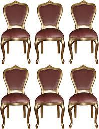 Casa Padrino Luxus Barock Esszimmer Set Rosa Gold 45 X 46