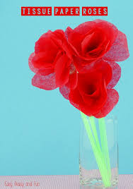 How To Make Rose Flower With Tissue Paper Tissue Paper Roses Easy Peasy And Fun