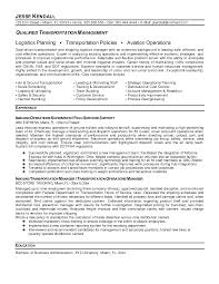 Transportation Resume Objective Transportation Resume Template