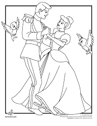 Small Picture Disneys Cinderella Coloring Pages Cinderella and Prince Charming