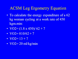 acsm leg ergometry equation
