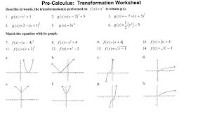 matching equations and graphs worksheet