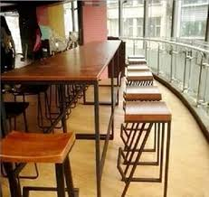 wood and wrought iron furniture. American Vintage Wood Bar Tables Tall Wrought Iron And Chairs Casual  Coffee Table Stool Made-in Bar Stools From Furniture On Furniture