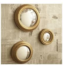mirror set. gold leaf convex wall mirror set by two\u0027s company - organize.com