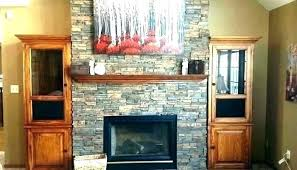 faux rock fireplace wall fake panels mantels stack