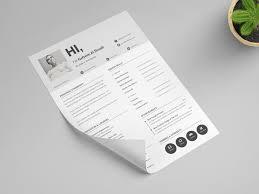 Modern Minimalist Resume Free Template Minimalistic Resume Cv Free Psd Template Psd Repo