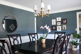 dining room decorating ideas modern blue living small spaces with post gorgeous