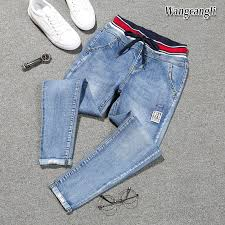 Fashion spring large size 5XL feet Harlan <b>jeans taille haute femme</b> ...
