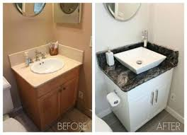 Painting bathroom vanity before and after Vanity Makeover Painting Bathroom Vanity Before And After Painting Bathroom Vanity Before And After Of Inspired By Painting Pinterest Painting Bathroom Vanity Before And After Just Chalk Paint Bathroom