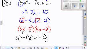 Ac Method 7 Factoring Ac Method Youtube