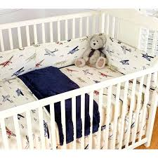 boys airplane bedding sets vintage airplanes blue 4 piece crib bedding set nursery airplane crib bedding