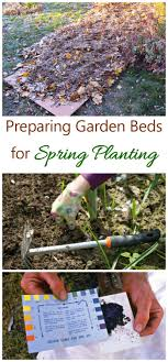 now is the time to think about preparing spring flower beds for planting see my
