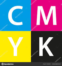 Simple Vector Cmyk Color Sample Background With Cyan Magenta