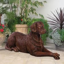 chocolate labrador statue 22 life size dog labrador garden fountain
