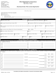 Start the national insurance number online process now. Form Ins3244 Download Fillable Pdf Or Fill Online Business Entity Title License Application Ohio Templateroller