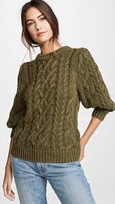 525 America Size Chart Puff Sleeve Sweater