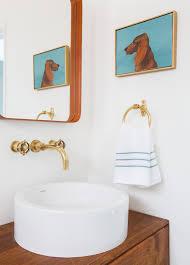 guest bathroom vessel sink brass faucet