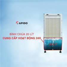 Quạt điều hòa không khí Rapido TURBO 3000D (Điều khiển từ xa) (Có thể lắp  thêm tấm lọc nano) - Hàng Chính Hãng   Điện máy Huy Ngọc