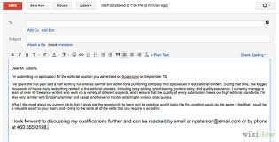Sample Of Cover Letter For Resume Via Email Adriangatton Com