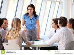 office meeting. Business People Having Board Meeting In Modern Office. Discussing Stock Image Office F