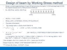 Working Stress Method Of Rcc Design Reinforced Concrete Design 3 Flexural Design Of Beams Ppt