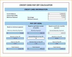 Pay Off Debt Calculator Excel Credit Card Payoff Template