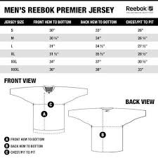 Reebok Nhl Jersey Size Chart