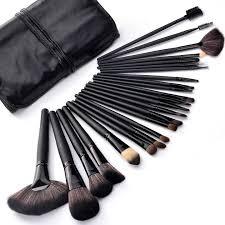 24 pcs makeup brush set tools make up toiletry kit with case