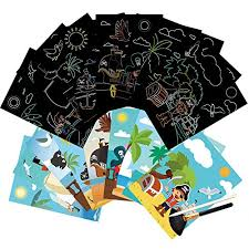 Have your child search through the kids coloring pages and find the right one for them! Glaryyears 9 Sheets Pirate Scratch Art Cards For Kids Boys With Brush Diy Creative Coloring Page Painting Black Off Treasure Beach Sea Cute Birthday Party Gift Educational Toys Planet
