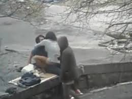 Couples having sex in public places