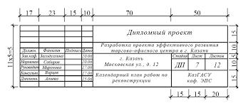 Оформление курсовых работ Штамп чертежей