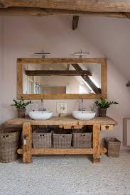 Holz Badezimmer Waschbecken Flusssteine Badezimmer Flusssteine