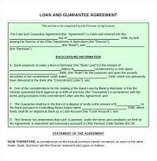 Guarantee Loan Agreement Form Template Cash Loan Agreement
