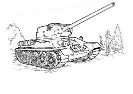 Tank T 34 Kleurplaat Gratis Kleurplaten Printen