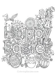 Happy Easter Coloring Pages Printable Free Printable Happy Adult