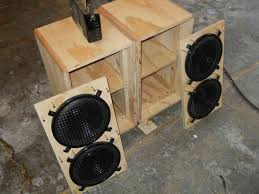 i used quarter round oak at the corners this is not necessary to do but is a preference that i have when making speaker boxes