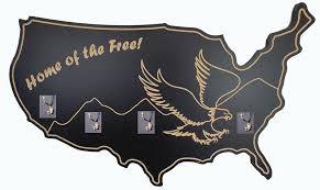 Amish Coat Rack Amish Coat Hooks HARDWOOD USA Freedom Eagle Hats and Coats Rack 97