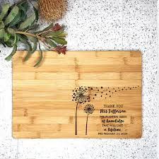 personalised cutting board seeds of knowledge