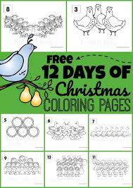 Coloring sheets, princesses, and coloring books. Free 12 Days Of Christmas Coloring Pages