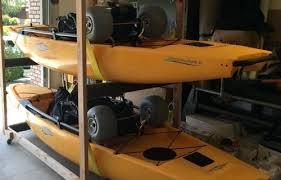 kayak storage rack ideas plans outdoor diy wood