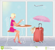 at the airport are going on vacations stock image image of tourism