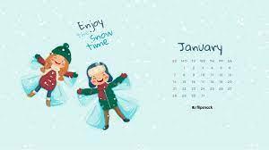 January 2018 calendar wallpaper for ...