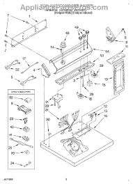whirlpool l dryer manual for whirlpool gas and electric part diagram