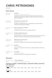 Plumber Resume Samples Visualcv Resume Samples Database